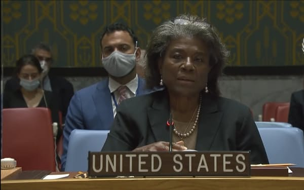 トーマスグリーンフィールド米国連大使は30日、アフガンのカブール空港周辺で起きたテロが「現実的な脅威を示している」と述べた