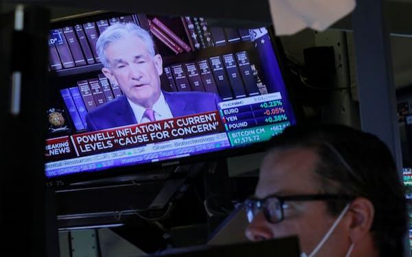 株式市場はパウエルFRB議長の講演を好感した=ロイター