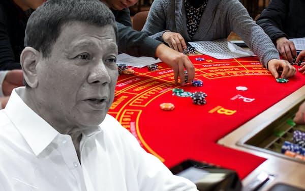フィリピンのドゥテルテ大統領はボラカイ島の観光を盛り上げるためカジノを認めざるを得なくなった=AP/ロイター