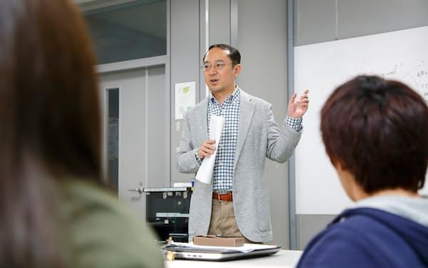 武蔵大の教員がロンドン大の授業を英語で教える(東京都練馬区の江古田キャンパス)