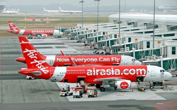 人員削減のほか、日本など競争力の低い地域からの撤退を進めている(クアラルンプール国際空港の機体)