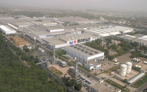 スズキのインドでの生産能力は年間225万台(北部ハリヤナ州のグルガオン工場)