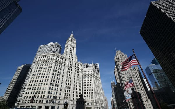 米シカゴ中心部=ロイター
