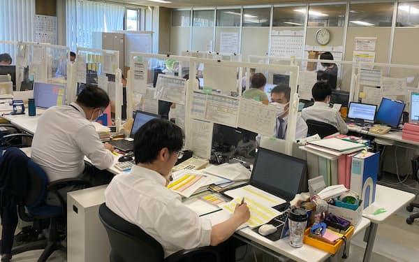 北海道庁ではテレワーク環境に限界があり、登庁して仕事する職員が多い
