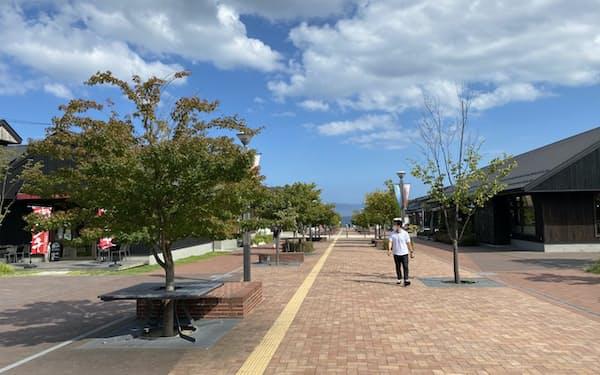 コロナ下で観光客が大きく減少したシーパルピア女川(宮城県女川町)