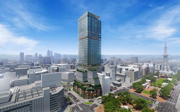 三菱地所などが建設を計画するビルのイメージ図