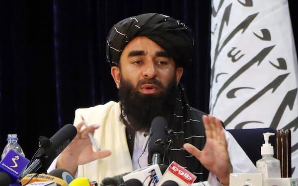 タリバン報道担当者は「包括的な新政権を樹立する」と主張するが、女性参加などで不透明感が漂う=ロイター