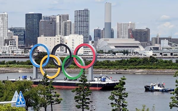 東京都は五輪マークがあったお台場など東京湾沿岸部の都市づくりを進める