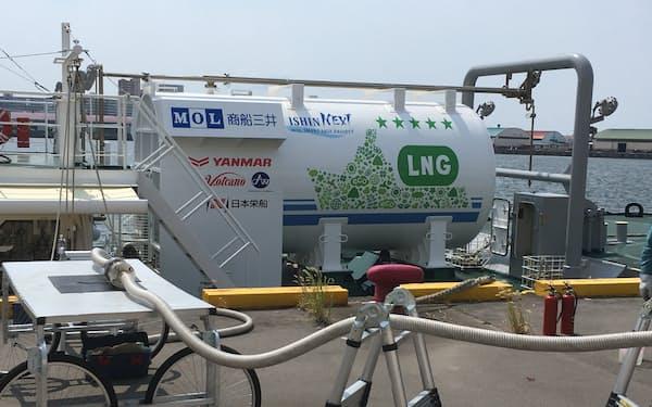 「CNLNG」をタグボートに供給する