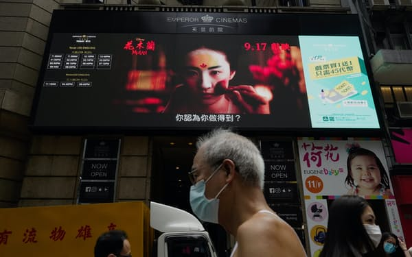 香港映画の公開数も減っている=AP