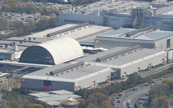 インテックス大阪に最大1000床規模で整備する方針だ