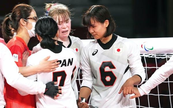 トルコ代表に敗北し、肩を落とすゴールボール女子日本代表