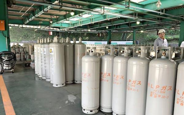 国際価格の上昇が国内に波及する可能性も(LPGの充填工場)
