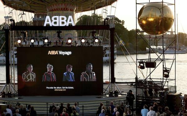 2日、スウェーデン・ストックホルムで開かれたイベントの様子=AP