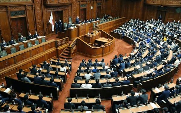 通常国会開会中の衆院本会議場(6月)