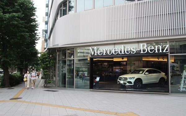 ブランド別ではメルセデス・ベンツが首位だった(東京都新宿区)
