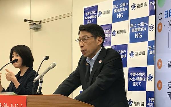 福岡県の服部知事は菅首相の退陣表明に「大変驚いている」と話した