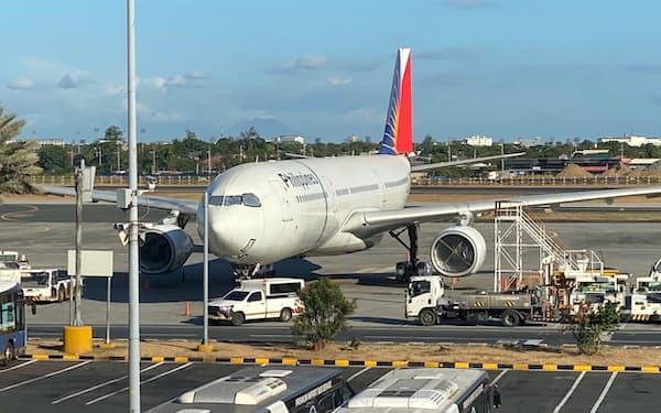 渡航制限によりフィリピン航空は経営難に陥っていた(5月、マニラ)