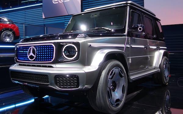 GクラスもEVになる(メルセデスが発表した「EQG」のコンセプト車。5日、独ミュンヘン)