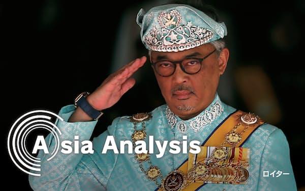混迷のマレーシア政治においてアブドラ国王の存在感が高まっている=ロイター