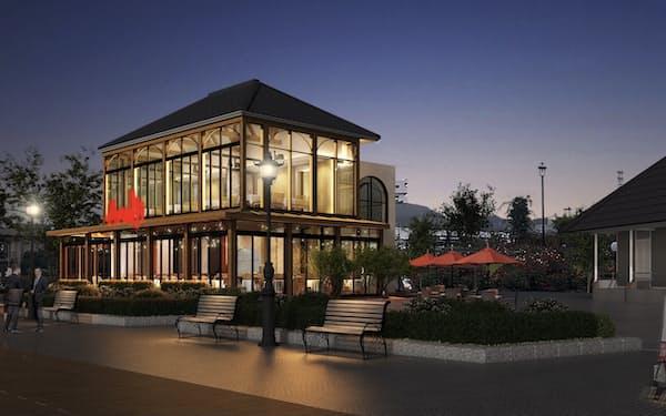 横須賀市中心部にあるヴェルニー公園にレストランを設ける(イメージ)
