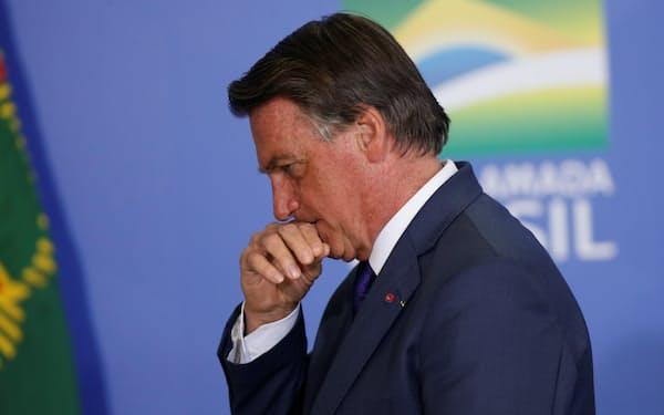 2022年大統領選で再選を狙うブラジルのボルソナロ大統領=ロイター
