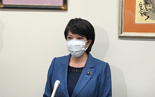 自民党総裁選に出馬する意向の高市早苗前総務相(3日)