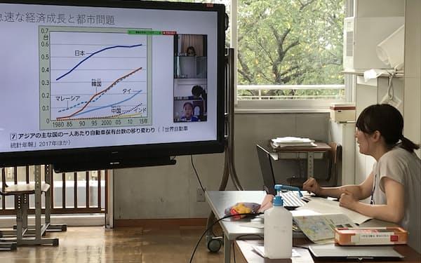 守谷市は市内の小中学校で8月25日にオンライン授業を始めた