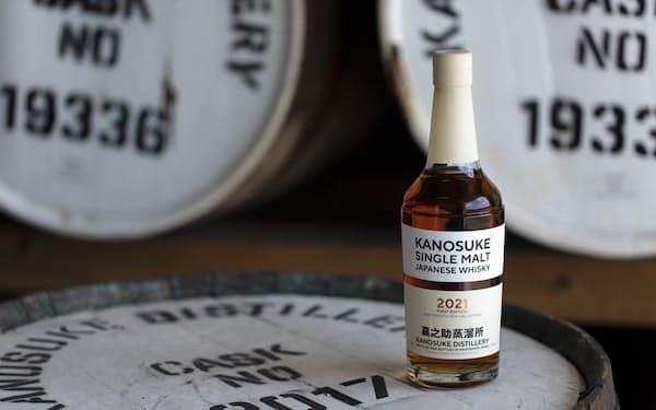 小正醸造子会社のウイスキーブランド「嘉之助」のシングルモルトウイスキー