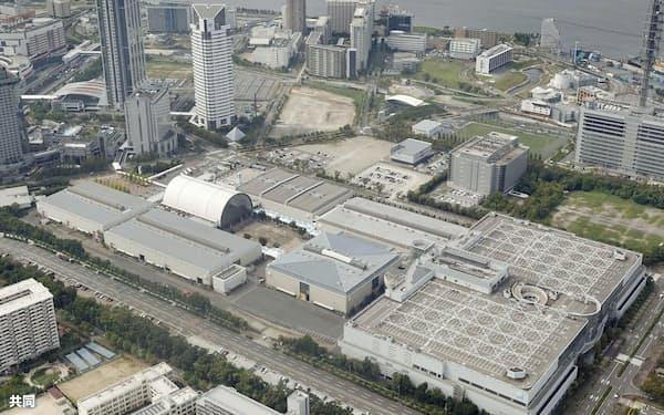 大阪府は大阪市内の大型展示場を活用し、臨時医療施設を設ける