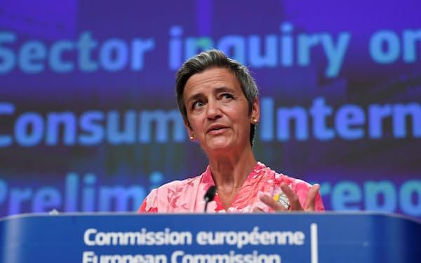 EUのベステアー上級副委員長=ロイター