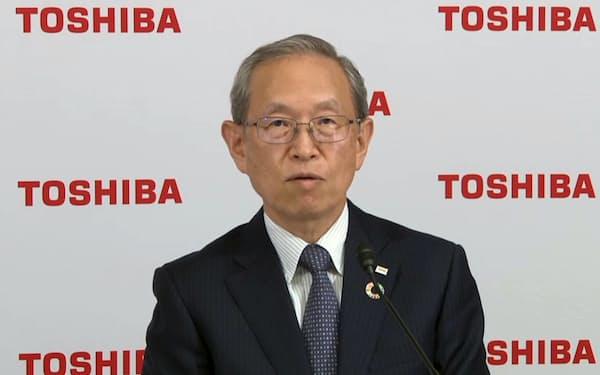 東芝の綱川智社長兼CEOの後任CEOの選定も急ぐ(8月のオンライン決算会見)