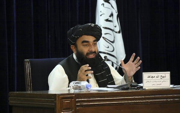タリバンの報道担当者は7日、身内のメンバーだけで固めた暫定政権を発表した=AP
