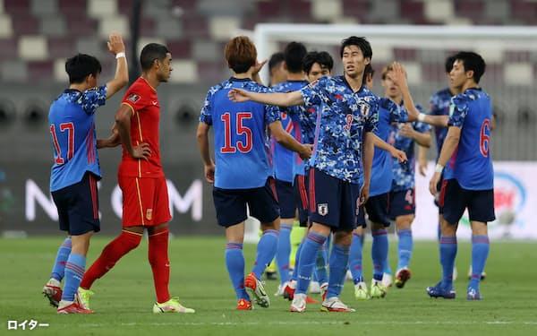 日本はW杯アジア最終予選の第2戦で中国を下し、待望の勝ち点3を手にした=ロイター