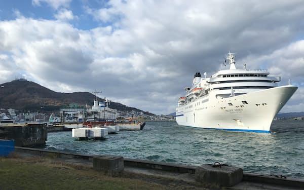 コロナ前、函館港はクルーズ客船の人気寄港地だった(北海道函館市)