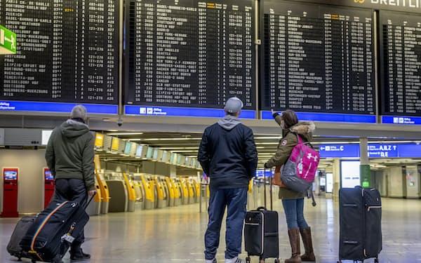 独フランクフルトの国際空港(1月)=AP