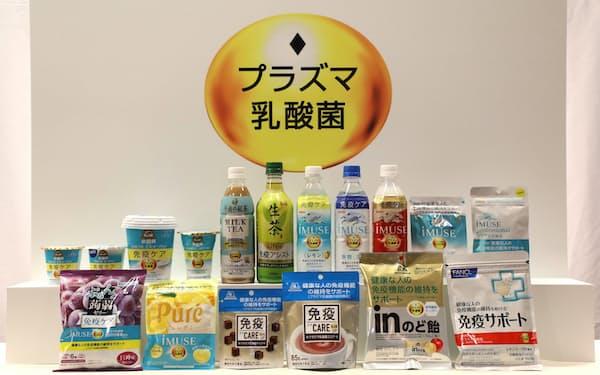 キリンホールディングスは、他社と連携しプラズマ乳酸菌を配合した商品を拡大する
