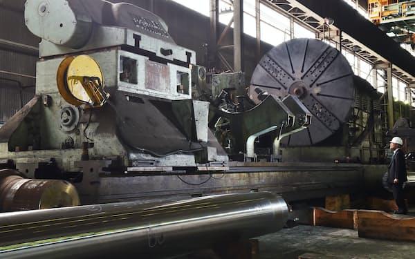 戦艦大和の主砲を削り出した独ワグナー社製の工作機械