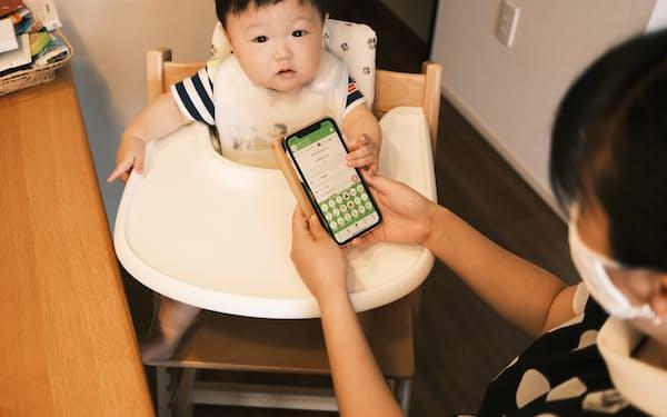ファーストアセントのアプリ「パパッと育児」で記録し赤ちゃんの生活リズムを把握できる
