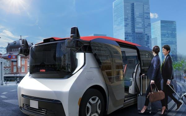 ホンダとGMなどが共同開発した自動運転車両「クルーズ・オリジン」のイメージ