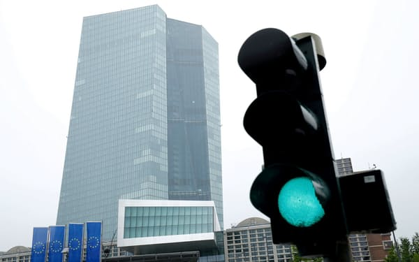 ECBは金融政策の正常化を慎重に探り始めた(独フランクフルトの本店)=ロイター
