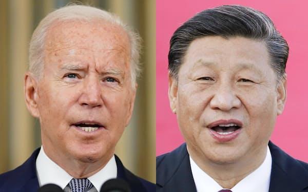 電話協議はバイデン米大統領(左)が中国の習近平国家主席に求めたという=ロイター