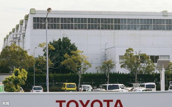 生産調整を実施するトヨタ自動車高岡工場(愛知県豊田市)