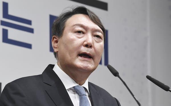 韓国保守系の有力大統領候補、尹錫悦前検察総長=共同