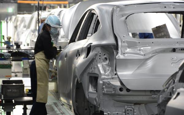 トヨタは今期の世界生産を900万台と期初計画で3%減らした(愛知県豊田市の高岡工場)