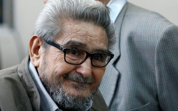 ペルーの左翼ゲリラ創設者アビマエル・グスマン氏が死去した(17年)=ロイター