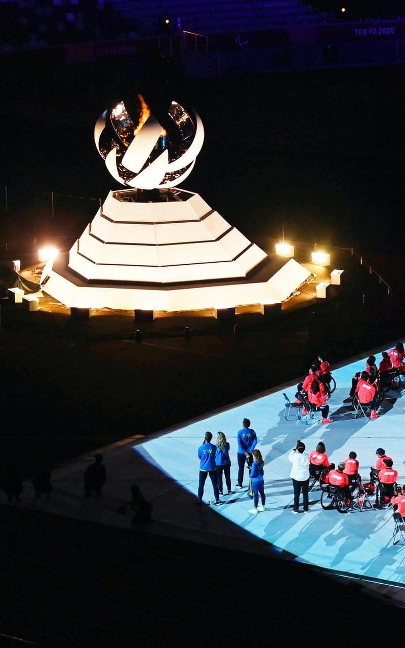 国立競技場で行われた東京パラリンピックの閉会式(5日、東京都新宿区)
