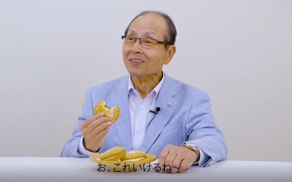 王貞治氏が約30年ぶりに出演した動画の一場面