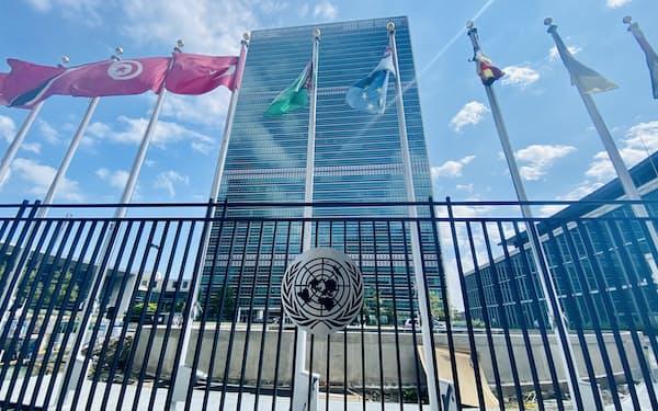 コロナ禍で迎える2度目の国連総会では実地演説も予定する(8日、ニューヨークの国連本部)