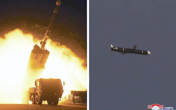 北朝鮮が11日、12日に実施した新型長距離巡航ミサイルの発射実験(朝鮮通信)